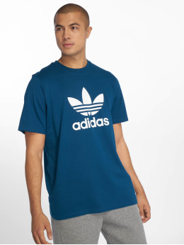 adidas originals T-Shirty Trefoil niebieski