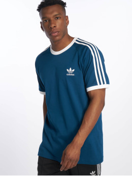 adidas originals T-Shirty 3-Stripes niebieski