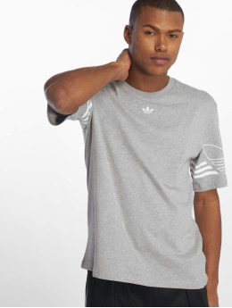 adidas originals T-Shirty Outline szary