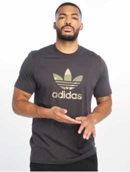 adidas originals Tričká Camo Infill šedá