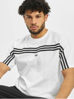 adidas Originals Tričká 3-Stripe biela