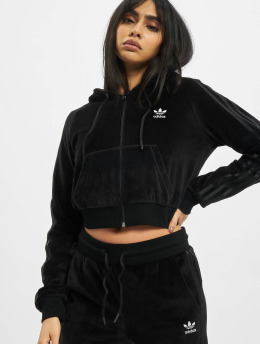 adidas Originals Zip Hoodie Crop Full èierna