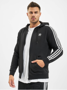 adidas Originals Zip Hoodie 3-Stripes Full черный