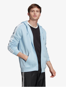 adidas Originals Zip Hoodie 3-Stripes Clesky blau