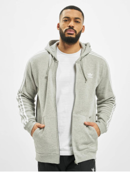 adidas Originals Zip Hoodie 3-Stripes Full  grau