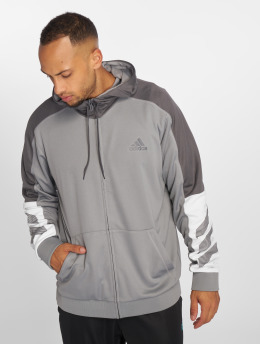 adidas Performance Hoodies con zip ACT grigio