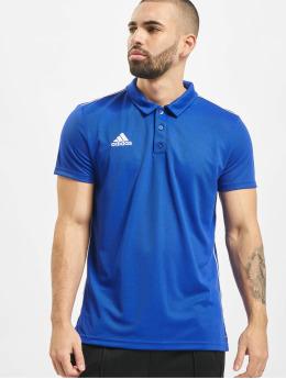 adidas Performance Koszulki Polo Core 18 ClimaLite niebieski
