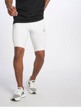 adidas Performance Pantalón corto de compresión Alphaskin blanco
