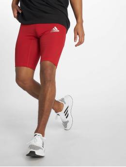 adidas Performance Pantalón corto de compresión Alphaskin rojo