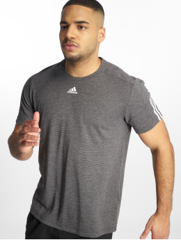 adidas Performance Shirts de Sport Stadium 3 Stripes gris
