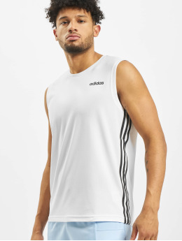 adidas Performance Sport Shirts Design2Move 3 Stripes hvid