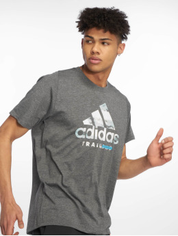 adidas Performance Sportshirts Logo schwarz