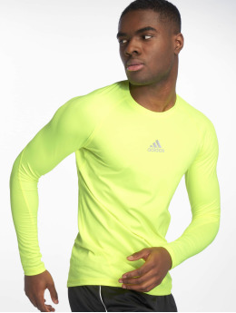 adidas Performance Sportshirts Alphaskin zólty