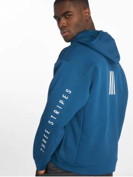 adidas Performance Sweat capuche zippé Three Streets bleu