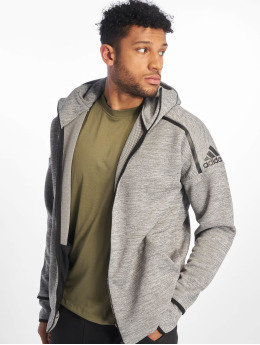 adidas Performance Sweat capuche zippé ZNE gris