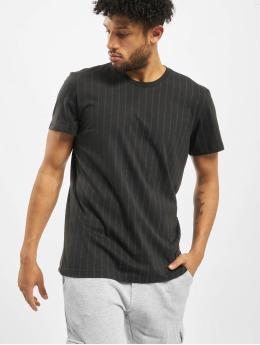 adidas Performance t-shirt Pinstripes  zwart