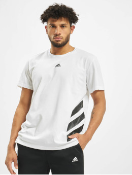 adidas Performance T-Shirty 3 Stripes bialy