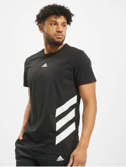 adidas Performance T-Shirty 3 Stripes czarny