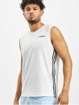 adidas Performance Tank Tops Design2Move 3 Stripes bílý