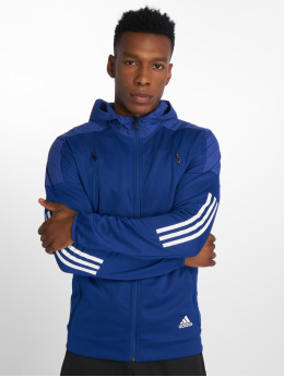 adidas Performance Zip Hoodie ID Hybrid синий