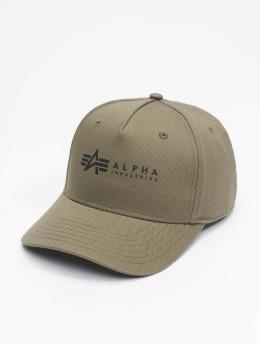 Alpha Industries Кепка с застёжкой Alpha зеленый