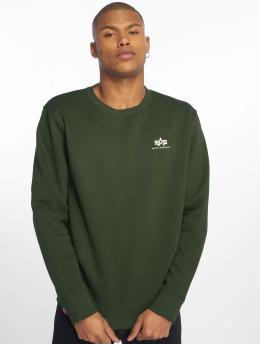 Alpha Industries Пуловер Basic Small Logo зеленый