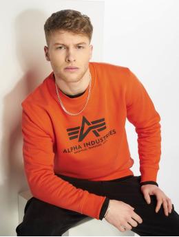 Alpha Industries Пуловер Basic оранжевый