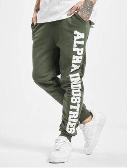 Alpha Industries Спортивные брюки Big Letters зеленый