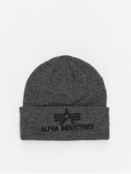Alpha Industries Beanie 3D  grau