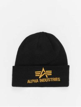 Alpha Industries Beanie 3D zwart