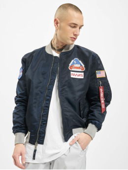 Alpha Industries Bomber jacket Ma-1 Lw Mission To Mars blue