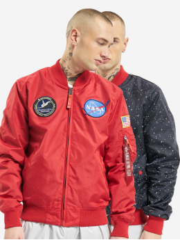 Alpha Industries Bomberjacka Ma-1 Tt Nasa Reversible Ii  röd