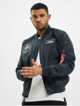 Alpha Industries Bomberjacke Ma-1 TT Glow In The Dark  blau