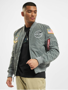 Alpha Industries Bomberjacke Ma-1 Nasa Reflective grau