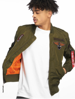 Alpha Industries Bomberjacke Ma-1 Patch SF grün