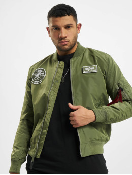 Alpha Industries Bomberjacke Ma-1 TT Glow In The Dark  grün