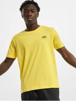 Alpha Industries Camiseta Basic Small Logo amarillo