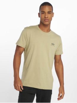 Alpha Industries Camiseta Basic Small Logo oliva