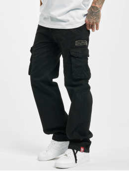 Alpha Industries Cargobroek Jet zwart