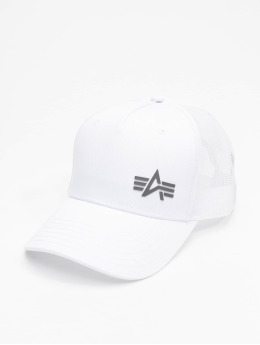 Alpha Industries Casquette Trucker mesh Small Logo blanc