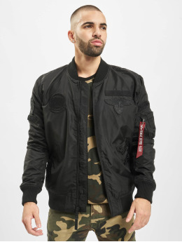 Alpha Industries Cazadora bomber Ma-1 Patch SF negro