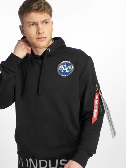 Alpha Industries Hoodie Moon Landing black