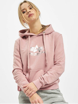 Alpha Industries Hoodie New Basic Foil Print rose