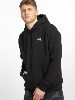 Alpha Industries Hoodie Basic Small Logo svart