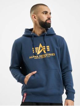 Alpha Industries Hoodies Basic blå