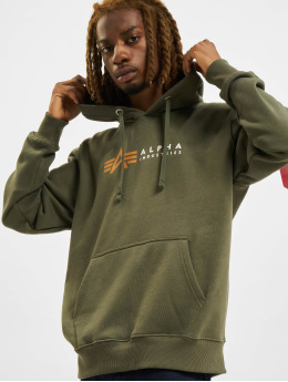 Alpha Industries Hoodies Alpha Label oliven