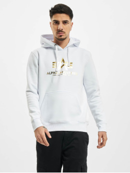 Alpha Industries Hupparit Basic Foil Print valkoinen
