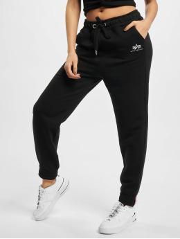 Alpha Industries Jogging kalhoty Basic Foil Print čern