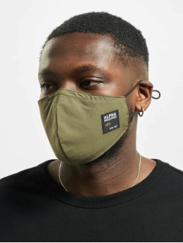 Alpha Industries Overige Label Face Mask olijfgroen
