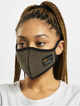 Alpha Industries Overige Label Ripstop Face Mask olijfgroen